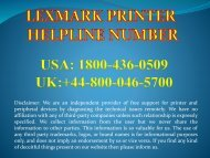 Lexmark Printer Support 1800-436-0509 Lexmark Printer Toll Free Number.