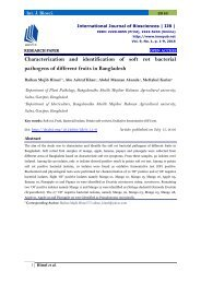 Characterization and identification of soft rot bacterial pathogens of different fruits in Bangladesh