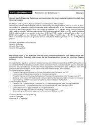 Aufgabensammlung: Lösungen – Reaktionen der Zellatmung (1)
