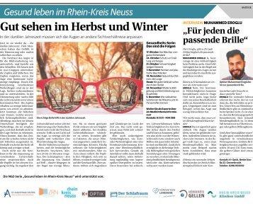 Gesund leben im Rhein-Kreis Neuss  -21.11.2018-