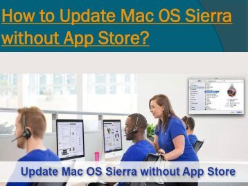 How to Update Mac OS Sierra without App Store