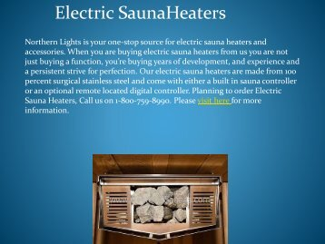 Reliable Electric Sauna Heaters