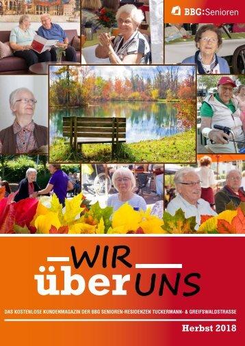 BBG Seniorenmagazin Herbst 2018