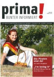 prima! Magazin - Ausgabe August 2012