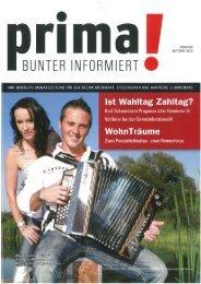 prima! Magazin - Ausgabe Oktober 2012