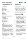BETRIEBSANLEITUNG ... - Erba - das Werkzeug - Seite 7