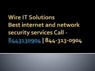 Wire IT Solutions | 8443130904 | Network Security in USA