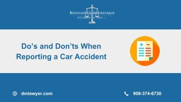 Do's and Don'ts When Reporting a Car Accident
