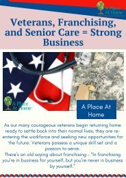 Senior Care Franchise - A Strong Business For Returning Veterans