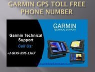 Garmin GPS Toll Free Phone Number-