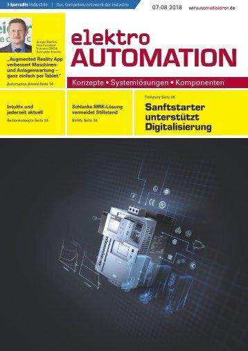 elektro AUTOMATION 07-08.2018