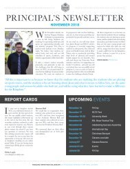 Principal's Newsletter November 2018