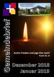 Gemeindebrief Dezember 18 Januar 19