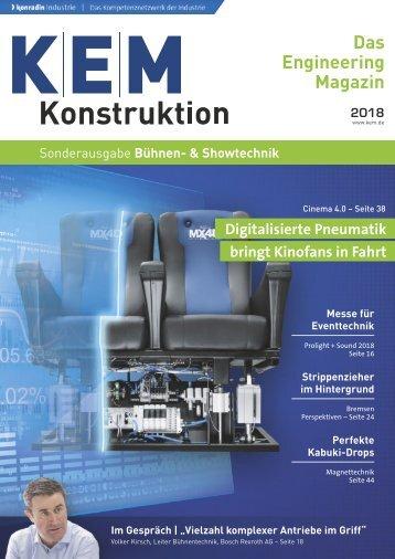 KEM Konstruktion Sonderausgabe Bühnen- & Showtechnik 2018