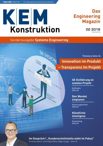 KEM Konstruktion Sonderausgabe Systems Engineering 02.2018