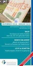 Veranstaltungsprogramm des Evangelischen Kirchenkreises Halle-Saalkreis für Dezember 2018 und Januar 2019