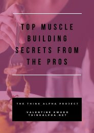 Top Muscle Building Secrets From The Pros
