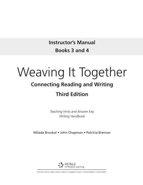 Weaving It Together