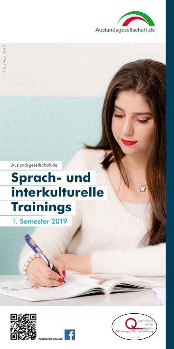 Sprachenprogramm 1. Halbjahr 2019 | Auslandsgesellschaft.de gGmbH