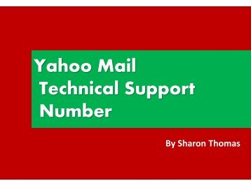 Yahoo Mail Technical Support Number +1-877-336-9533