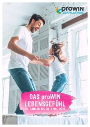 Das proWIN Lebensgefühl 01-04/2019 - Geschenke
