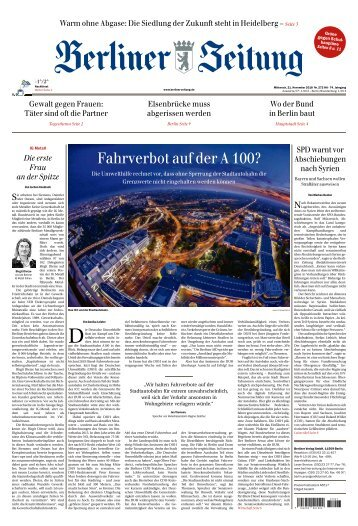 Berliner Zeitung 21.11.2018