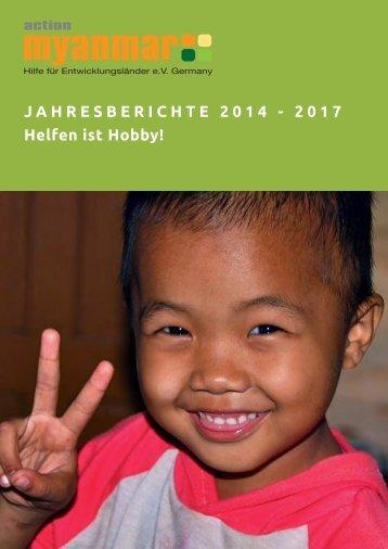 Myanmar Jahresberichte 2014-2017