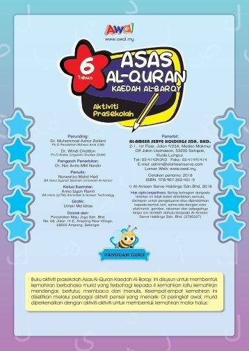 Buku Aktiviti Prasekolah - Asas Al-Quran - 6 Tahun