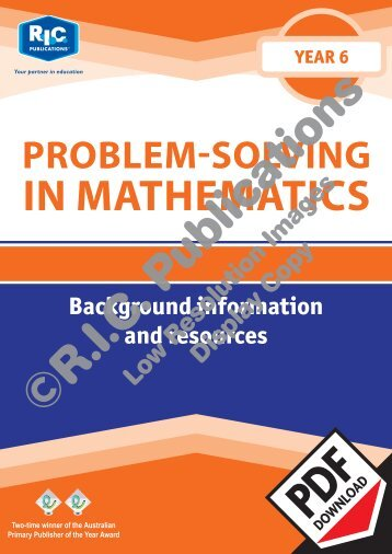 20771_Problem_solving_Year_6_Background_information_resources