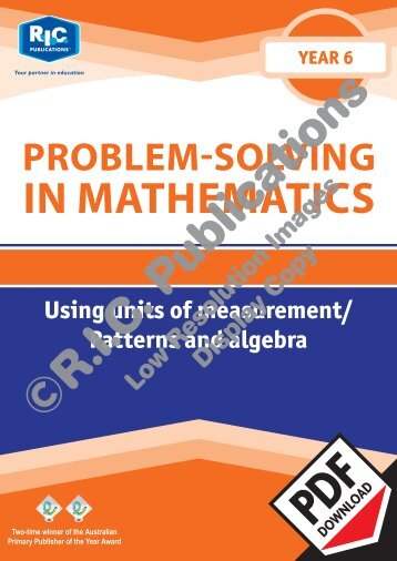 20772_Problem_solving_Year_6_Using_units_of_measurement_Patterns_and_algebra