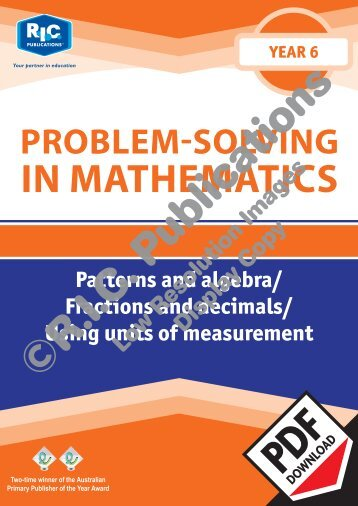 20777_Problem_solving_Year_6_Paterns_and_algebra_Fractions_and_decimals_Using_units_of_measurement
