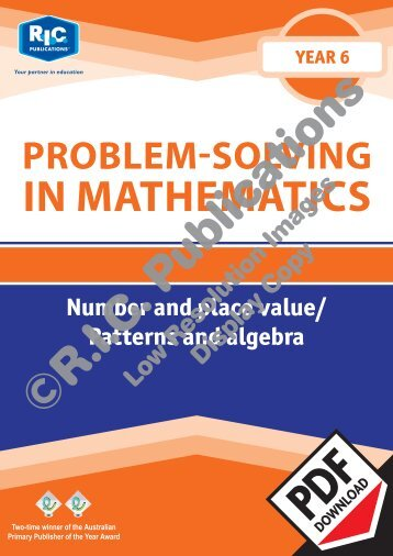 20774_Problem_solving_Year_6_Number_and_place_value_Patterns_and_algebra_1