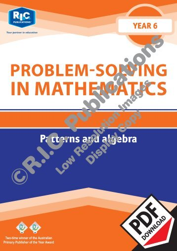 20784_Problem_solving_Year_6_Patterns_and_algebra