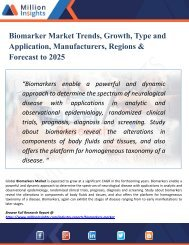 Biomarker Market Perspective, Comprehensive Analysis, Size, Share, Growth, Segment, Trends and Forecast 2025