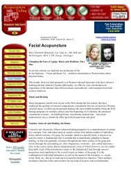 Facial Acupuncture - Chi-Akra Center!!