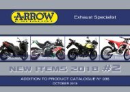 Arrow - New items October 2018