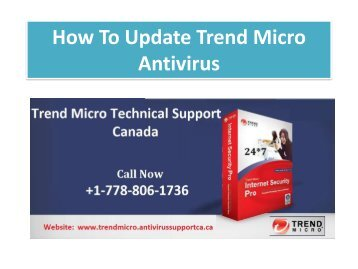 How To Update Trend Micro Antivirus