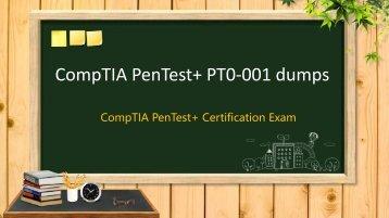 CompTIA PenTest+ PT0-001 dumps