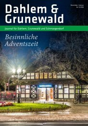 Dahlem & Grunewald Journal Dez/Jan 2018