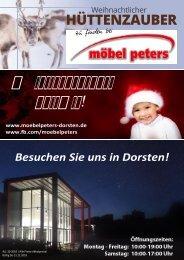 Weihnachtlicher Hüttenzauber bei Möbel Peters in Dorsten