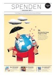 Spenden machen Mut – ein Magazin von Swissfundraising und Zewo