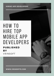 How to hire top mobile app developers by Vrinsoft