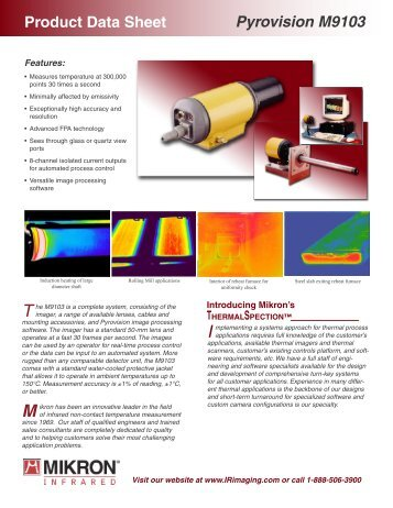 Product Data Sheet Pyrovision M9103 The ... - Sun Infrared.com