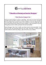 7 Benefits of Having an Interior Designer