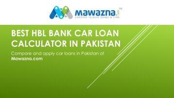 hbl car loan calculator