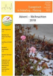 Gemeindebrief Kirchengemeinde Feldafing-Pöcking /Advent 2018