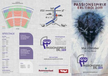 Passionsspiele Erl Flyer 2019
