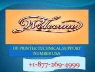 Hp Printer tech support number USA :+1-877-269-4999