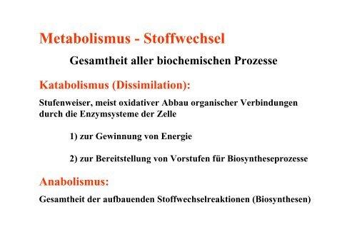 (Atmung und Gärung) Wasserstoff-Donator organotroph - DocCheck ...