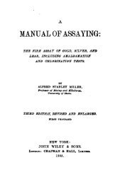 70 The Manual of Assaying 1905
